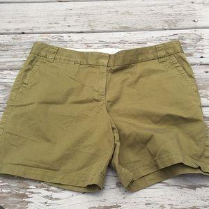 JCrew Size 14 City Fit Chino Shorts Green